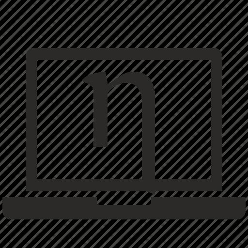 Alphabet eta greek letter icon