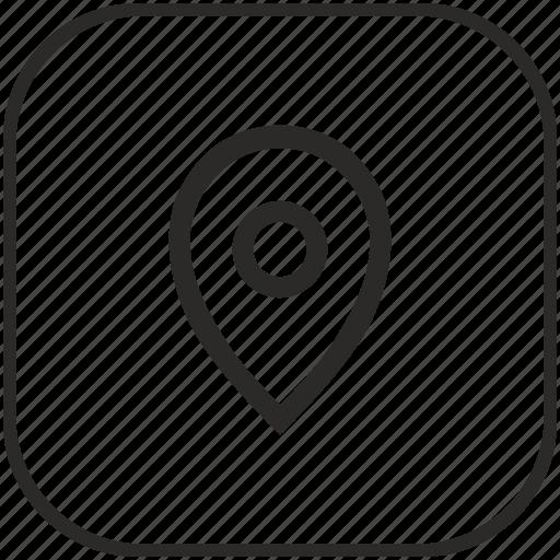 geo, location, point, pointer icon