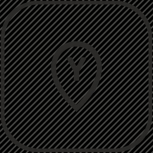 geo, location, point, pointer, y icon