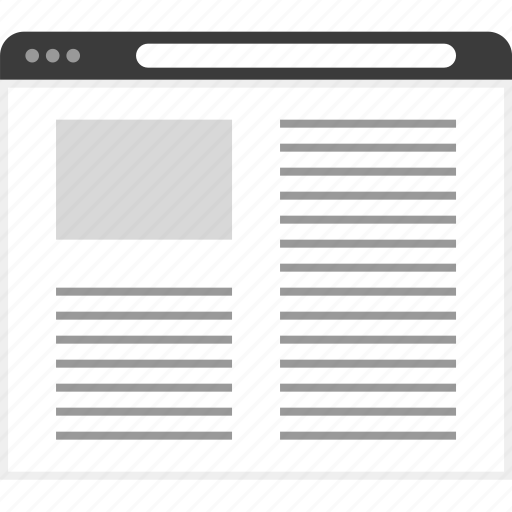 article, frame, layout, net, website icon