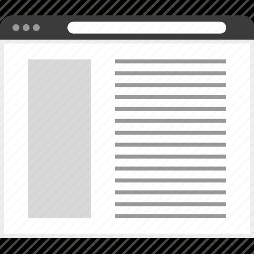aside, frame, layout, net, website icon