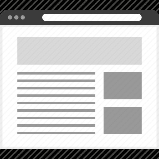 banner, frame, layout, net, website icon
