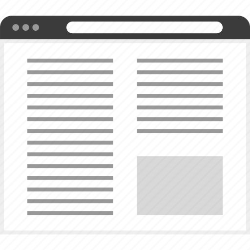 columns, frame, layout, net, website icon