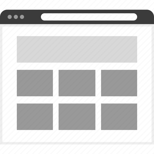 frame, gallery, layout, net, website icon