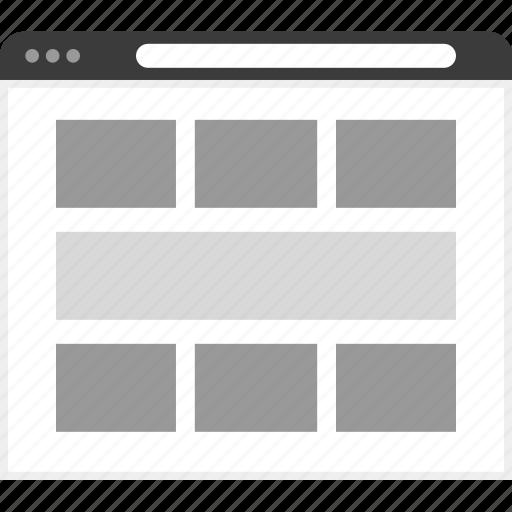 frame, grid, layout, net, website icon