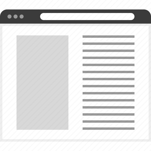 columns, frame, large, layout, net, two, website icon