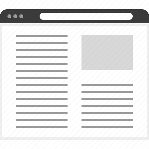 frame, layout, net, news, post, website icon