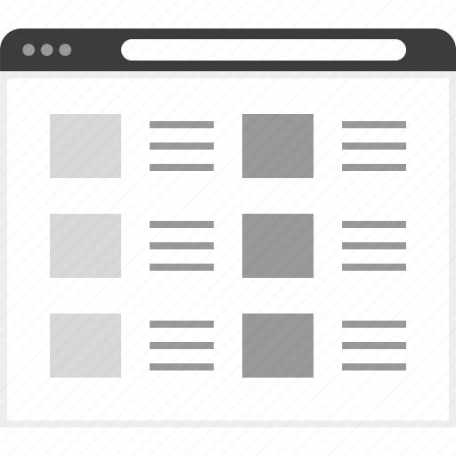 frame, layout, net, posts, six, website icon