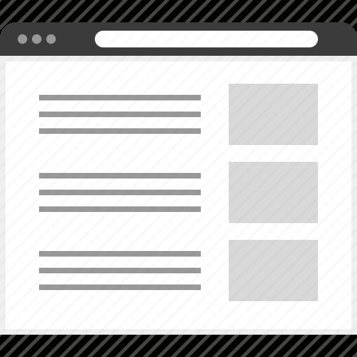 frame, layout, net, three, website icon