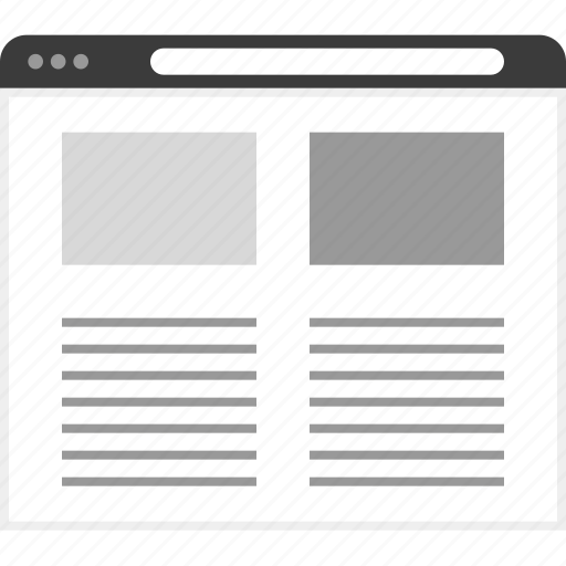blog, frame, layout, net, posts, two, website icon