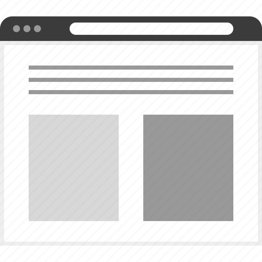 bottom, frame, layout, net, photos, two, website icon