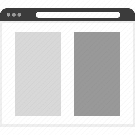 frame, large, layout, net, photos, two, website icon