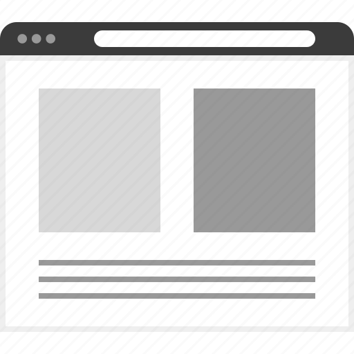 frame, layout, net, picture, post, two, website icon
