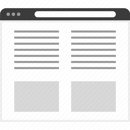frame, layout, net, posts, two, website icon