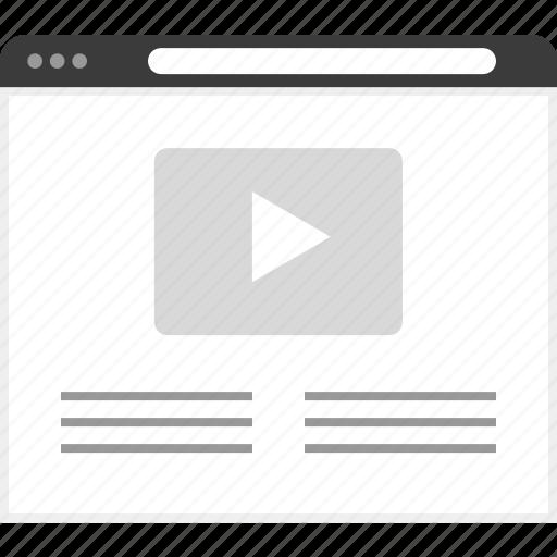frame, layout, media, net, video, website icon