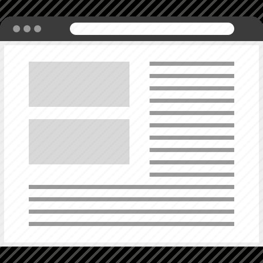 frame, layout, net, website icon