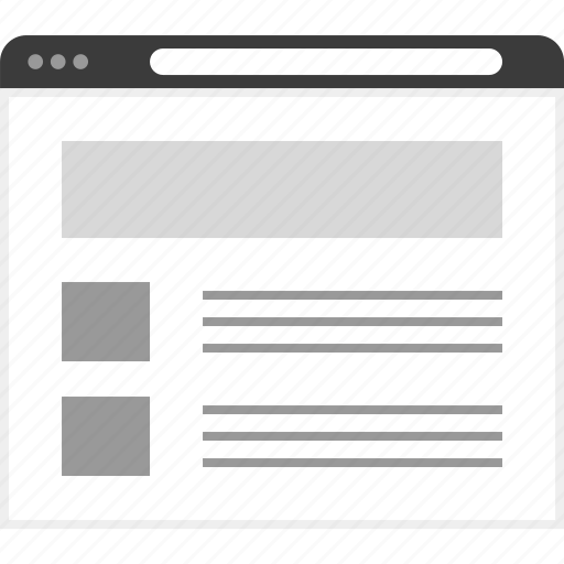 frame, layout, net, news, website icon
