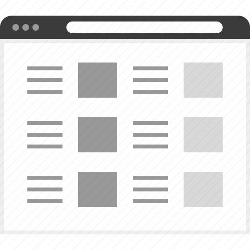 frame, layout, net, post, six, website icon