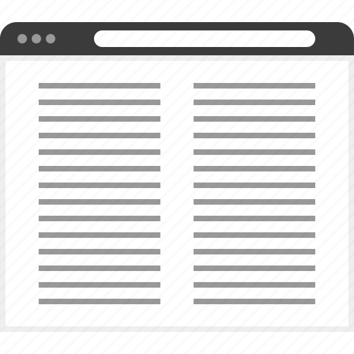 article, column, frame, layout, net, two, website icon