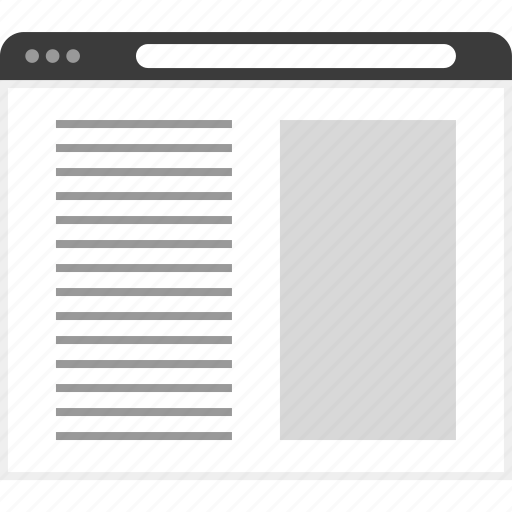 columns, frame, layout, net, two, website icon
