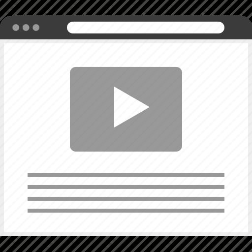 frame, layout, net, website, youtube icon