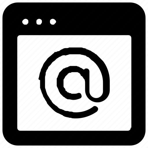 browser, email, webpage, website icon