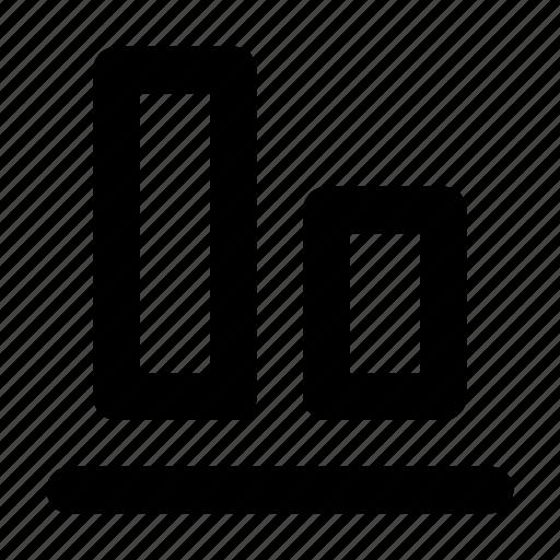 Align, bottom, move bottom, alignment icon
