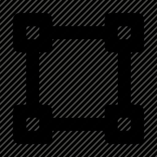 anchor, design, select, selection, tool icon