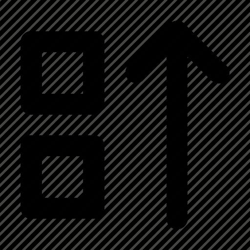 Down, layer, move icon