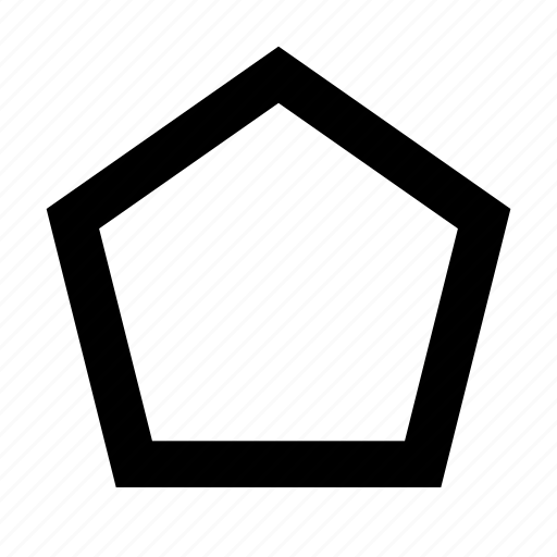 form, geometric, geometry, pentagon, shape icon