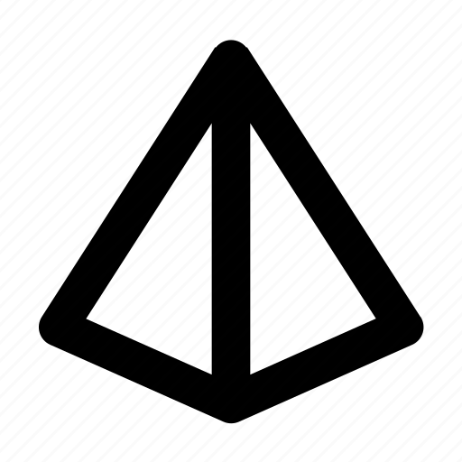 business, geometry, office, pyramid, shape icon