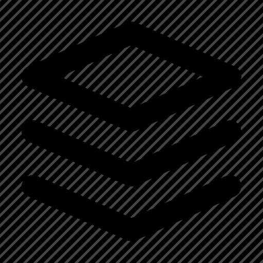 database, internet, layers, server, stacked icon