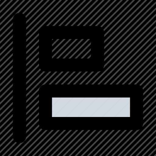 align, alignment, left icon