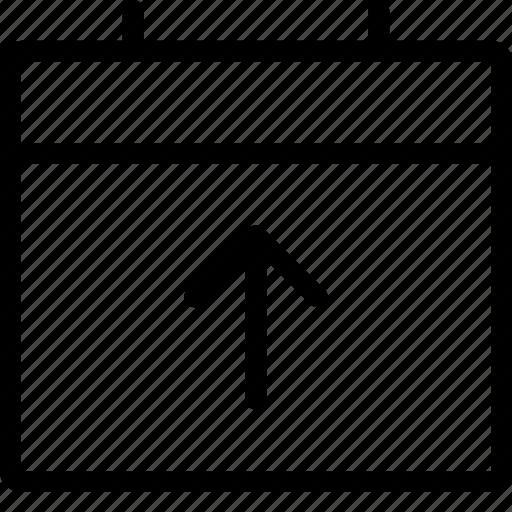 calendar, upload icon