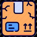 box, broken, product icon