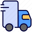 car, delivery, fast, shipping, truck icon