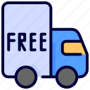 delivery, free, shipping, truck