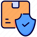 box, cargo, delivery, logistic, protected, shield icon