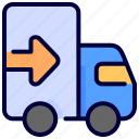 delivery, shipping, truck