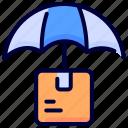 box, logistics, shipping, transportation, umbrella