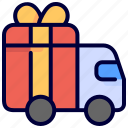car, delivery, gift, transport icon