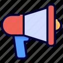 marketing, megaphone, promotion icon