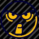 angry, emoji, emoticon, feelings, mad, smileys icon