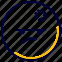 angry, emoji, emoticon, face, feelings icon