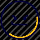angry, bad, emoji, emoticon, emotional, feelings icon