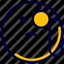 detective, emoji, emoticon, feelings, smileys icon