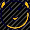 devil, emoji, emoticon, feelings, smiley icon
