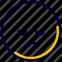 disappointed, emoji, emoticon, feelings, smileys icon