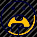 drool, emoji, emoticon, feelings, hungry, smileys icon