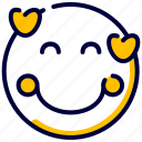 emoji, emoticon, feelings, heart, love, smiley icon